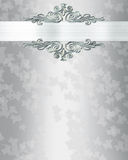 Fundo do convite do casamento elegante Fotos de Stock Royalty Free