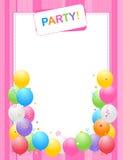 Fundo do convite do partido Fotos de Stock