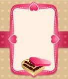Fundo do convite dos doces Ilustração Royalty Free