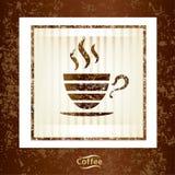Fundo do copo de café Imagem de Stock