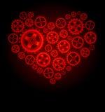 Fundo do coração da engrenagem do vetor Fotos de Stock
