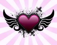 Fundo do coração de Grunge ilustração stock