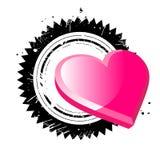 Fundo do coração de Grunge Imagens de Stock Royalty Free