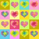 Fundo do coração de Valentin ilustração stock