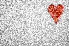Fundo do coração do brilho Imagem de Stock Royalty Free