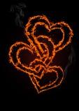 Fundo do coração do dia do Valentim Fotos de Stock Royalty Free