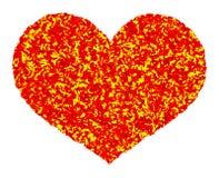 Fundo do coração do fogo da arte abstrato Imagens de Stock Royalty Free