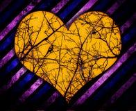 Fundo do coração do Grunge ilustração stock