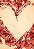 Fundo do coração do Grunge. ilustração do vetor
