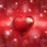 Fundo do coração dos Valentim ilustração do vetor