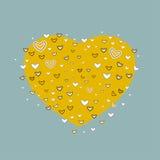 Fundo do coração Ilustração do vetor Fotografia de Stock Royalty Free