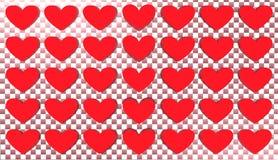 Fundo do coração, ilustração Foto de Stock Royalty Free