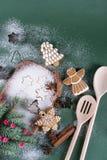Fundo do cozimento do Natal e do feriado Imagem de Stock Royalty Free
