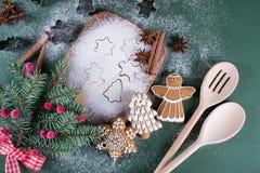 Fundo do cozimento do Natal e do feriado Fotos de Stock