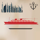 Fundo do cruzeiro do vintage ilustração stock