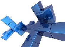 Fundo do cubo Foto de Stock