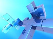 Fundo do cubo Fotos de Stock