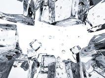 Fundo do cubo de gelo com espaço vazio Imagens de Stock Royalty Free