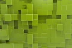 Fundo do cubo do computador de Structur Imagens de Stock