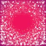 Fundo do cumprimento do dia do ` s do Valentim com corações Imagens de Stock Royalty Free
