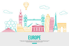 Fundo do curso de Europa com lugar para o texto Fotos de Stock