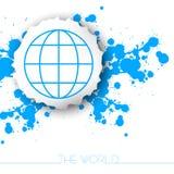 Fundo do curso do mundo Fotografia de Stock Royalty Free