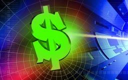 Fundo do dólar de Digitas Fotografia de Stock Royalty Free