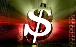 Fundo do dólar de Digitas Fotografia de Stock