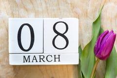 Fundo do 8 de março Fotografia de Stock Royalty Free