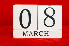Fundo do 8 de março Imagens de Stock Royalty Free