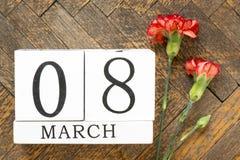 Fundo do 8 de março Fotografia de Stock