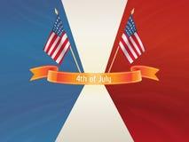 Fundo do Dia da Independência. ô julho Imagens de Stock