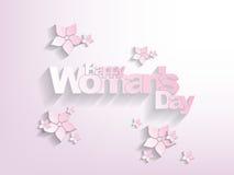 Fundo do dia da mulher feliz Fotos de Stock