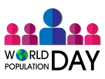 Fundo do dia da população de mundo ilustração stock