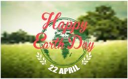 Fundo do Dia da Terra com floresta Imagem de Stock