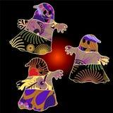 Fundo do Dia das Bruxas do vetor com fantasma Imagens de Stock Royalty Free