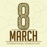 Fundo do dia das mulheres Fotografia de Stock
