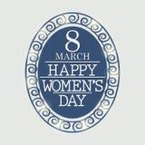 Fundo do dia das mulheres Imagens de Stock Royalty Free