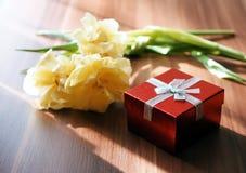 Fundo do dia das mulheres com as flores bonitas da tulipa Imagem de Stock Royalty Free