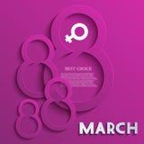 Fundo do dia das mulheres do vetor. Eps10 Fotos de Stock