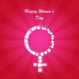 Fundo do dia das mulheres felizes Imagem de Stock
