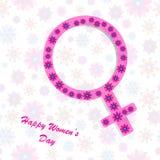 Fundo do dia das mulheres felizes Imagens de Stock Royalty Free