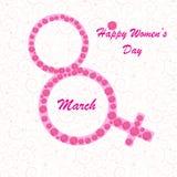 Fundo do dia das mulheres felizes Fotos de Stock