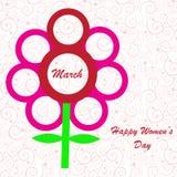 Fundo do dia das mulheres felizes Fotografia de Stock