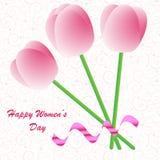 Fundo do dia das mulheres felizes Fotografia de Stock Royalty Free
