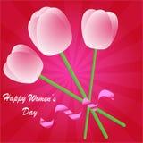 Fundo do dia das mulheres felizes Fotos de Stock Royalty Free