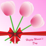 Fundo do dia das mulheres felizes Foto de Stock