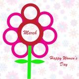 Fundo do dia das mulheres felizes Imagem de Stock Royalty Free