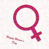 Fundo do dia das mulheres felizes Imagens de Stock