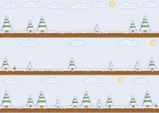 Fundo do dia de inverno da arte do pixel Imagem de Stock Royalty Free